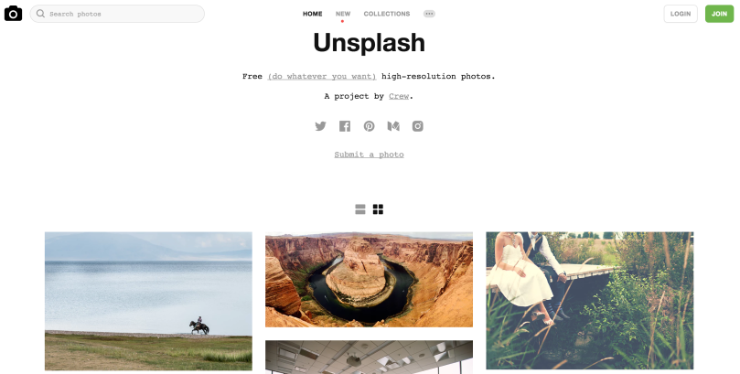 screen shot of unsplash for managed by rita